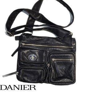 DANIER black  leather crossbody